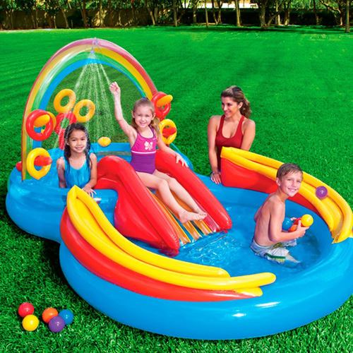 Intex Rainbow Ring Inflatable Play Center Review