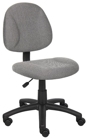 Boss Office Products B315-GY Perfect Posture Delux Fabric Task Chair without Arms Review