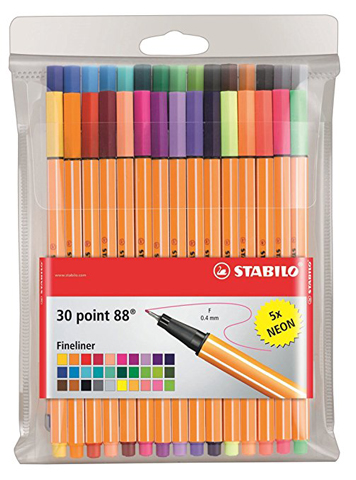 Stabilo Pens Item 8830-1 Point 88-Fine Point-30 Color Wallet of Coloring Pens Review