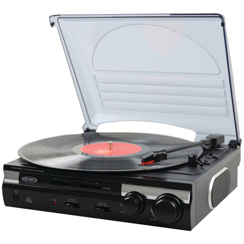 Jensen JTA-230 3 Speed Stereo Turntable Review