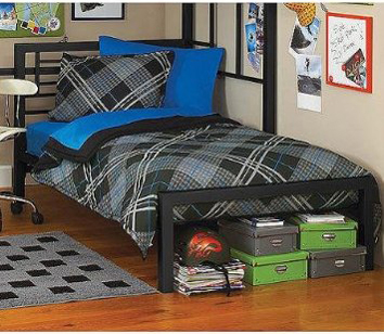 Your Zone Metal Twin Bed Black Review