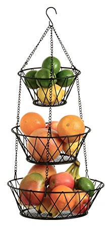 Blue Donuts Heavy Duty Black 3-Tier Hanging Basket Review