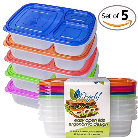 Orgalif BPA-Free 3-compartment Reusable Plastic Bento Lunch Box Review