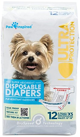 Paw inspired ultra-protection disposable dog diapers Review