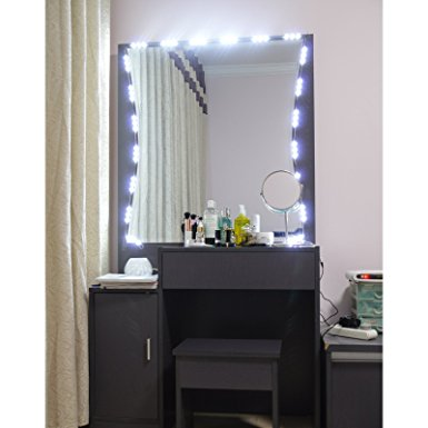 Lighted Mirror LED Light for Cosmetic Makeup Vanity Mirror Kit Review