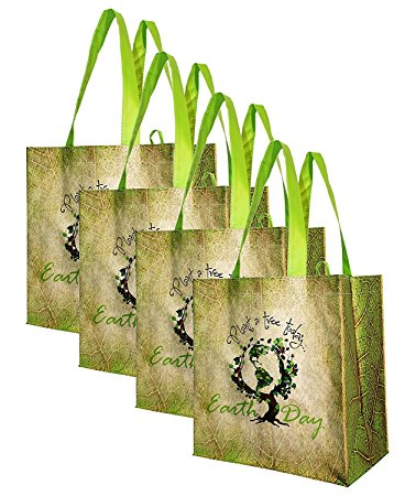 Earthwise Large Earth Day Reusable Grocery Shopping Tote Bag Review