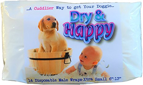 Pet MasterMind Dry & Happy 14 Count Extra-Small Disposable Male Dog Wrap Review