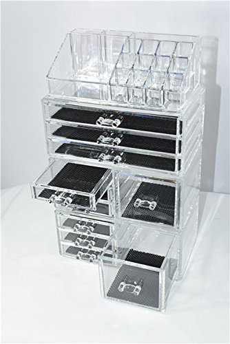Unique Home Acrylic Jewelry and Cosmetic Storage Makeup Organizer Set Review