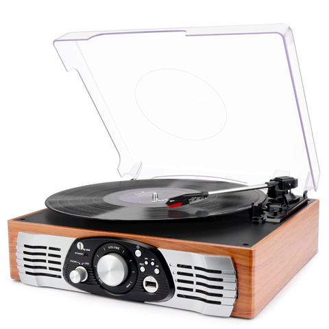 1byone Belt-Drive 3-Speed Stereo Turntable Review