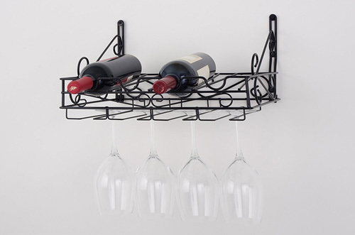 Concept Housewares WR-40702 Black Wall Mount Wine Rack Review