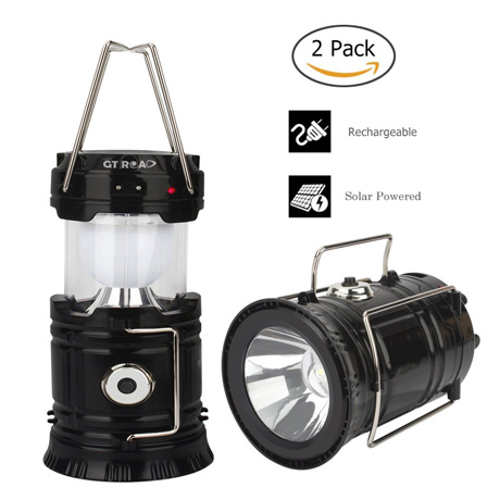 GT ROAD Solar Led Camping Lantern Flashlight Rechargeable Review