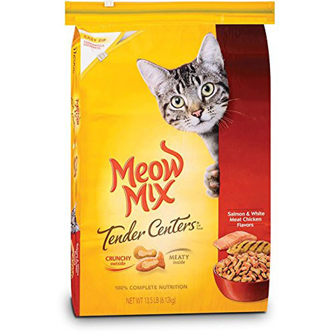 Meow Mix Dry Cat Food Review (Tender Centers)