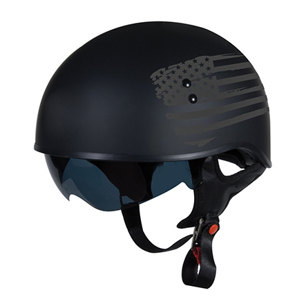 "TORC Flat Black T55 Helmet with ""Flag"" Graphic Review"