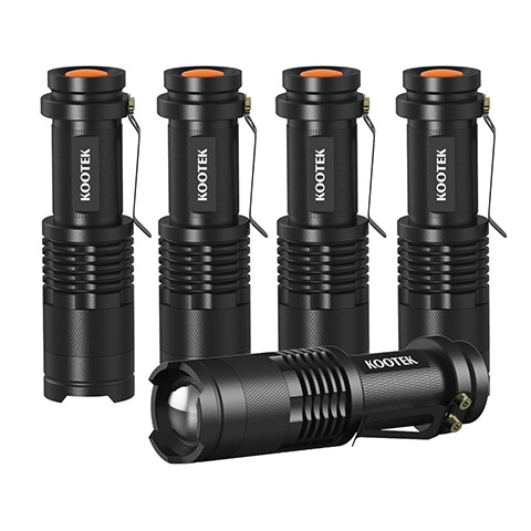 Kootek 5 Pack Tactical Mini LED Flashlight Review