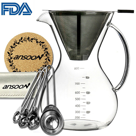 Ansoon pour over 800ml coffee maker Review