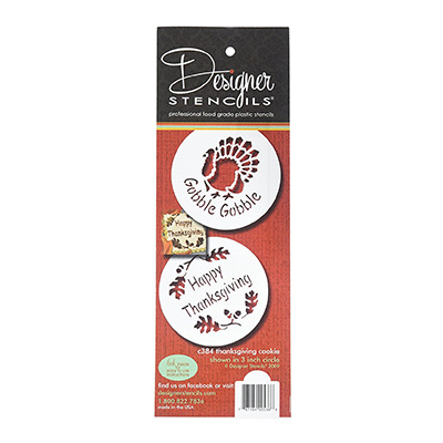 Designer Stencils C384 Thanksgiving Cookie Set Review