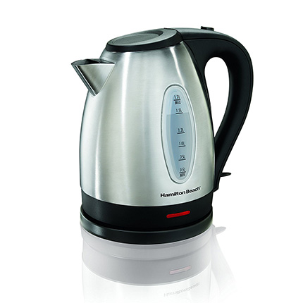Hamilton Beach 1.7-Liter Silver Electric Kettle Review (40880)