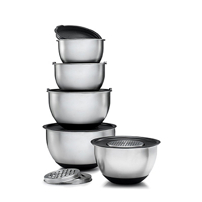 Sagler premium Stainless Steel Mixing Bowl set with 5 lids Review