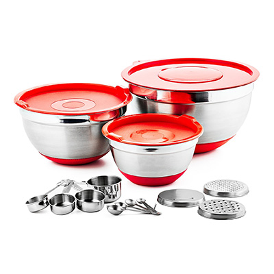 Chef's Star 17 Piece Stainless Steel Mixing Bowl Set Review