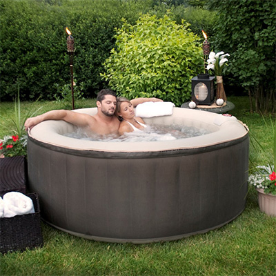 TheraPureSpa 4-Person Inflatable Portable Hot Tub Review