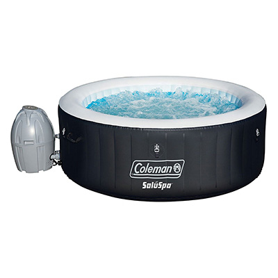 Bestway Coleman SaluSpa Black Portable Inflatable Hot Tub Review (4 Person)