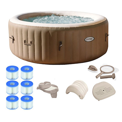 Intex Pure Spa Inflatable Portable Hot Tub Review (4-Person)