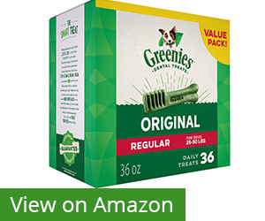 4. Greenies Original Dog Dental Chews Dog Treats