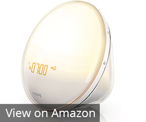 10. Philips White HF3520 Wake-Up Light with Alarm Clock
