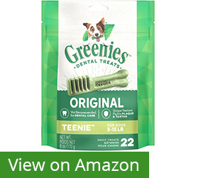 2. Greenies Original TEENIE Dog Dental Chews