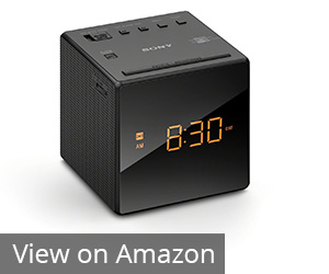 9. Sony Black Alarm Clock Radio (ICFC1BLACK)