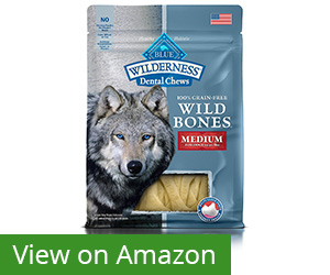 8. BLUE Wilderness Wild Bones Dental Chews