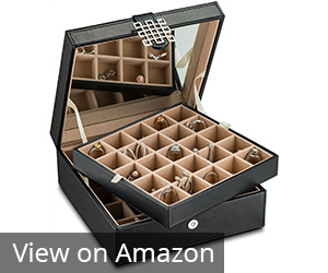 4. Glenor Co Black 50-Section Jewelry Box Review