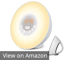 6. MOSCHE White Sunrise Alarm Clock