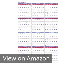 2. AT-A-GLANCE Yearly Wall Calendar Review