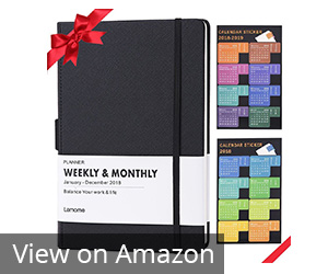 9. Lemome Planner 2019 with Pen Holder Review