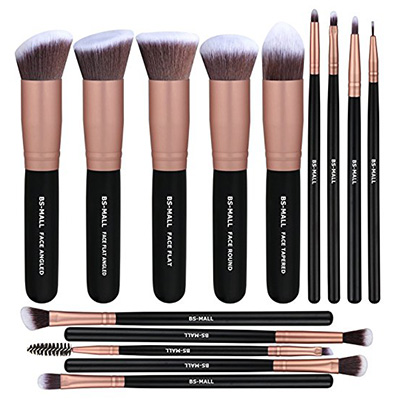 10. BS-MALL (TM) Premium 14-Pieces Synthetic Rose Golden Makeup Brush Sets