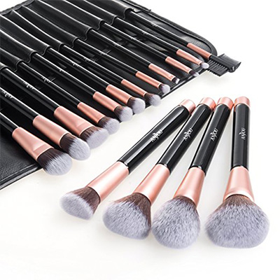 7. Anjou Makeup Brush Set with 16 Pieces of Premium Cosmetic Brushes