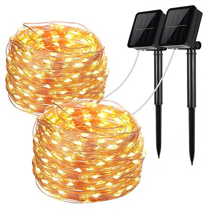 8. LiyanQ Solar String Lights