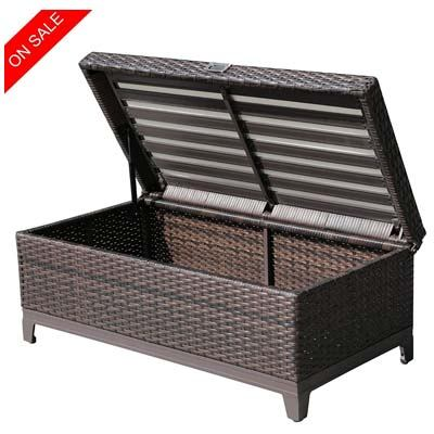 PATIOROMA Outdoor Patio Wicker Storage Deck Box &
