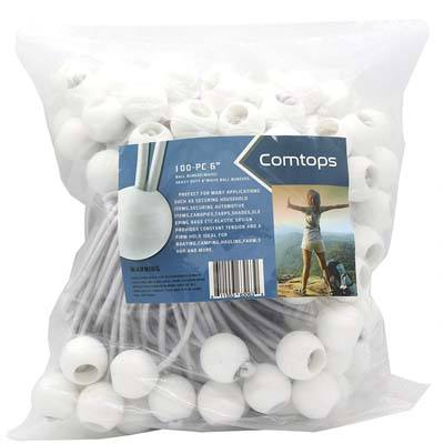 "7. Comtops 6"" 100 PC Ball Bungee Cord"
