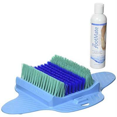 The FootMate System Foot Scrubber, blue