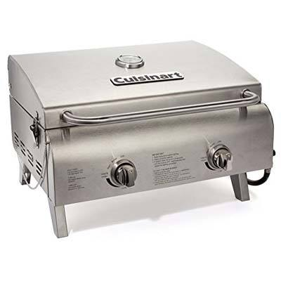 9. Cuisinart Chef's CGG-306 Chef's Tabletop Style Stainless Grill