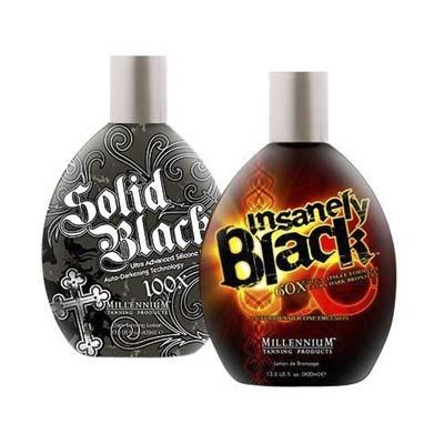 Millennium Tanning 13.5 Ounce Indoor Tanning Bed Lotion – Insanely Black and Solid Black