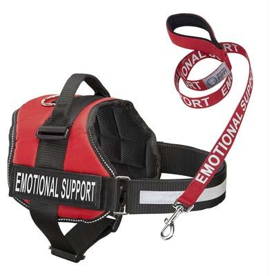 Industrial Puppy Emotional Support Animal Vest and Matching Leash