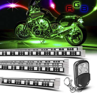 PROAUTO 8 piece Motorcycle LED Lights Kit