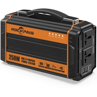 Rockpals 250-Watt Portable Solar Generator
