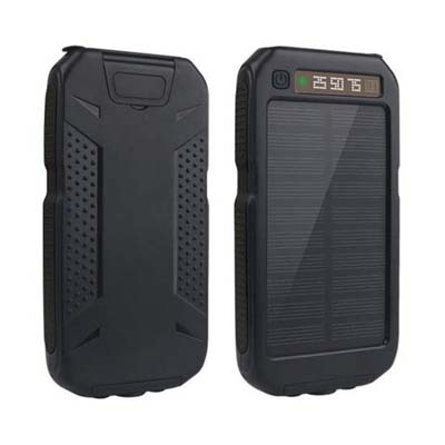 Digital-Kingdom 10000mAh Solar Power Bank (Black)