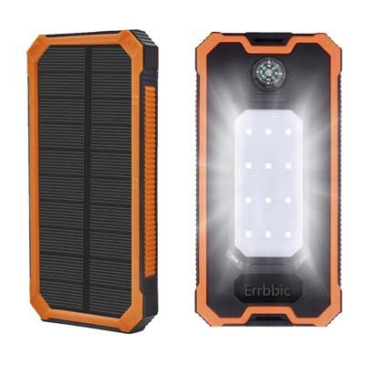 Errbbic 10000mAh Solar Power Bank