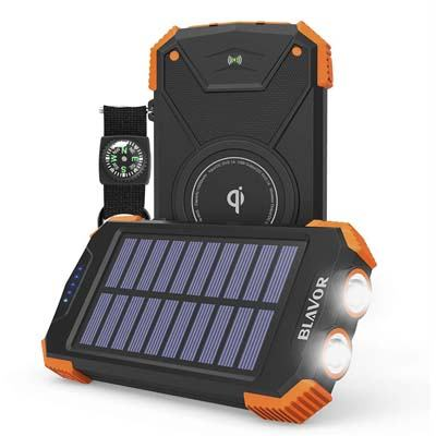 BLAVOR 10,000mAh Solar Power Bank