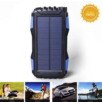 Kiizon 25000mAh Portable Solar Power Bank